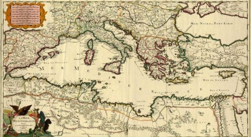Cartina Storica Mediterraneo.Compagnia Della Vela Cartografia Storica Del Mediterraneo